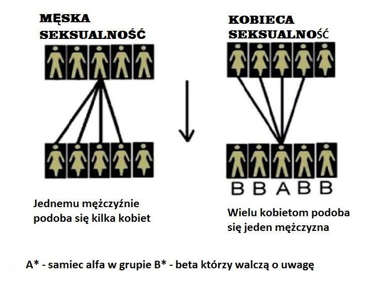 Hipergamia kobiet. Pociąg kobiet tylko do wąskiej grupy mężczyzn.