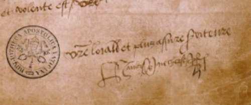 podpis Henryka VIII pod listem do Boleyn