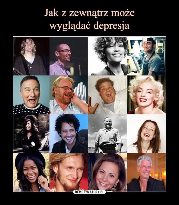jak z zewnątrz wygląda z depresja - widać uśmiech